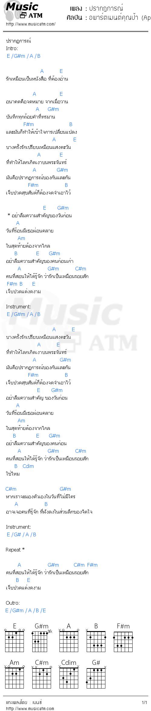 คอร์ดเพลง ปรากฏการณ์ - อพาร์ตเมนต์คุณป้า (Apartment Khunpa) | คอร์ดเพลงใหม่